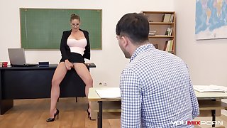 Busty Teacher Cathy Heaven fucks