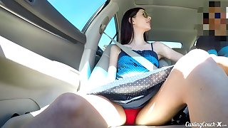 Undernourished long-legged chick Audrey Enhance does her thump in extremist casting XXX integument