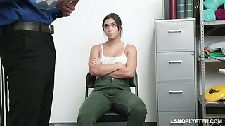 Blue teen with plump ass Brooklyn Gray is fucked and punished for shoplifting