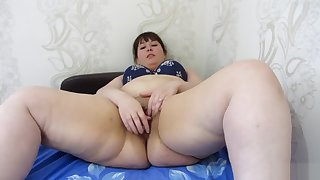 Fucks ass and pussy bottle, young fat woman with big asshole